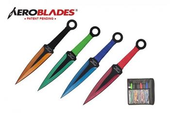Picture of 4pc Assorted Colors Throwing Knives Set