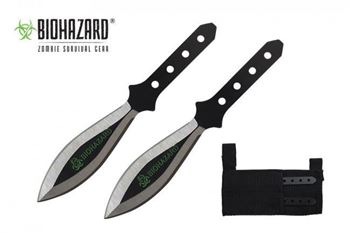 Picture of 2pc. Black Throwing Knives w/ Wide Blade