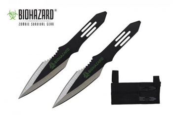 Picture of 2pc. Black Throwing Knives w/ Offset Blade