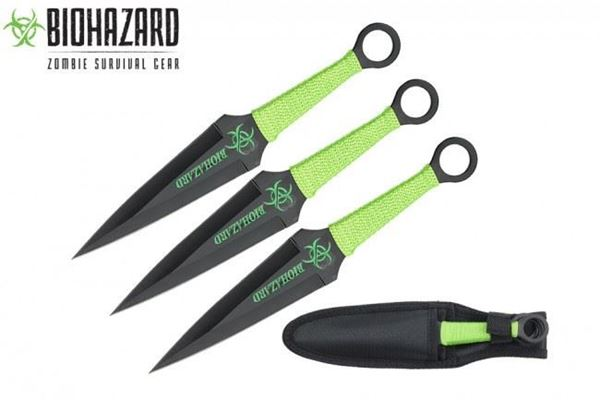 Picture of Black Zombie Throwing Knives