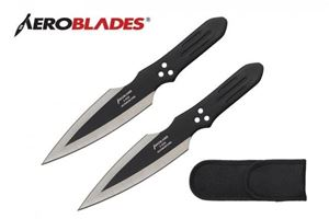 Picture of 2 Piece Thunderbolt Throwing Knives Set (Black)