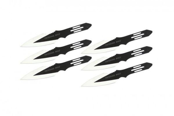 Picture of Set of 6 Thunderbolt Throwing Knives w/ Serrated Blade