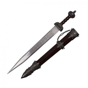 Picture of Brown Wooden Roman Gladiator Sword With Scabbard And Chain