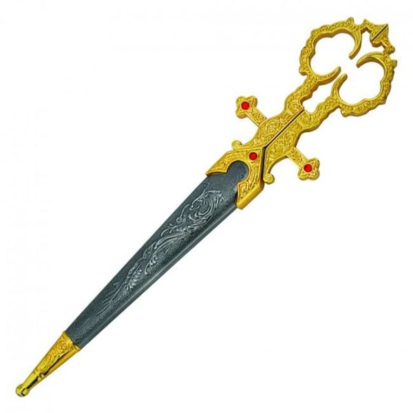 Picture of Gold Bodice Scissors Dagger With Sheath