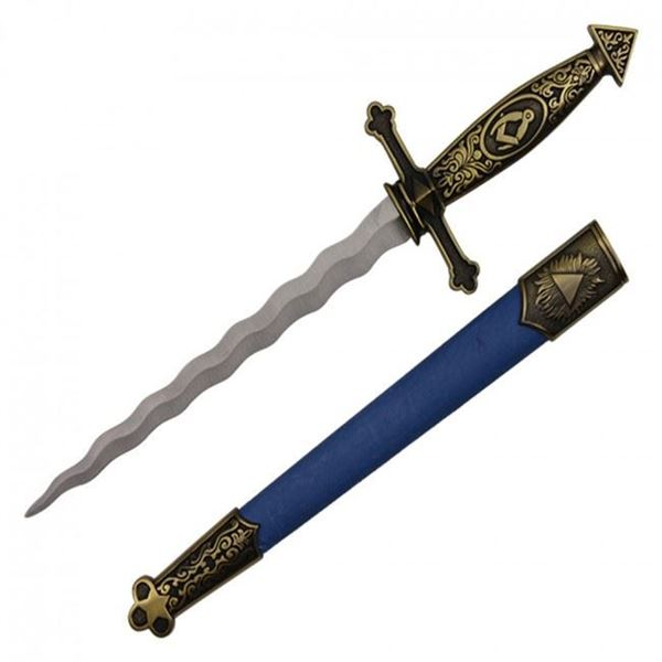 Picture of Spanish Designed Dagger With Blue Scabbard