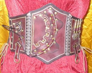 Picture of Leather Steampunk Corset with Glow Light