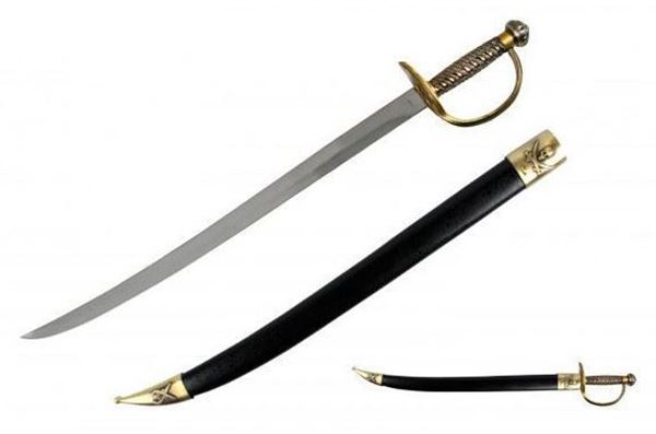 "Picture of 28"" Pirate Sword w/ Brass Hilt"