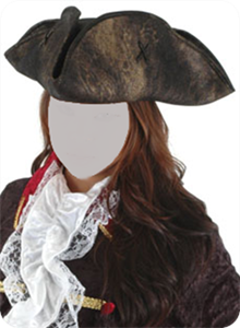 Picture of Black Scallywag Tricorn