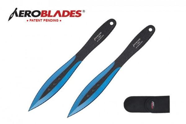 "Picture of Aeroblades 7.5"" Blue Throwing Knives"
