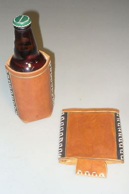 Picture of Leather Beverage Holder Koozie